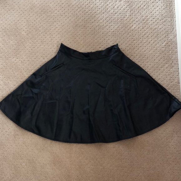 one clothing Dresses & Skirts - High waist leather skater skirt